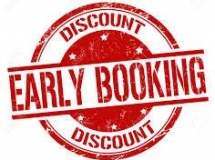 Always the lowest rate: book ahead and save!
